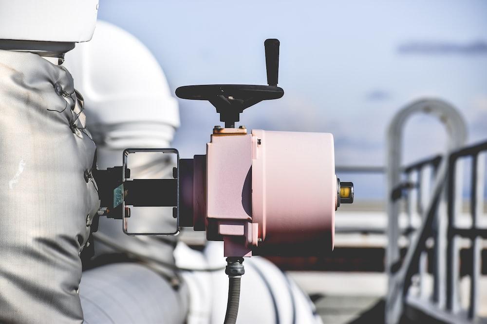 pink metal equipment