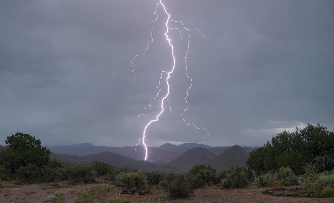 Lightning strikes Embudo Valley.