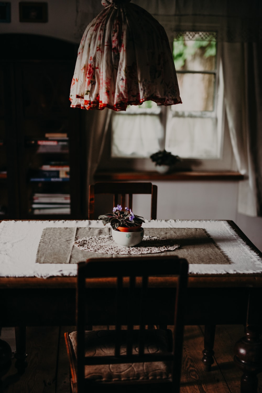 white bowl on table
