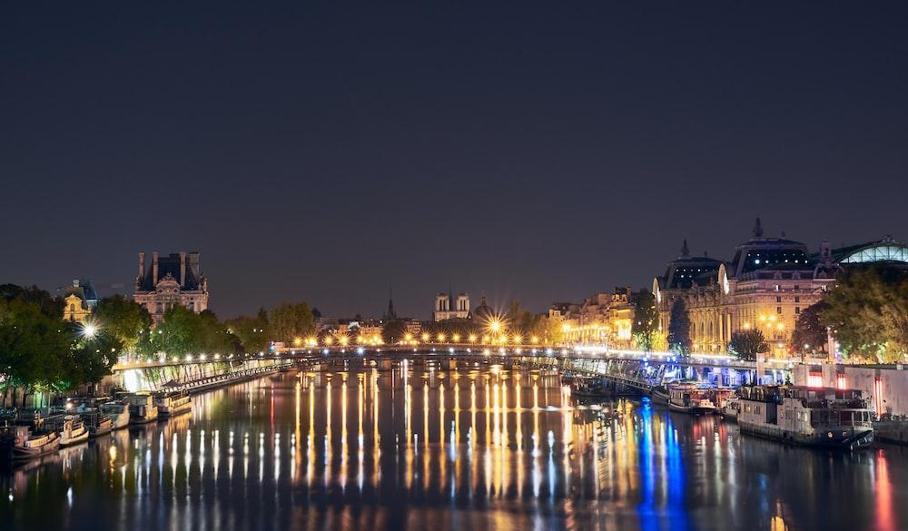 silhouette photo of river