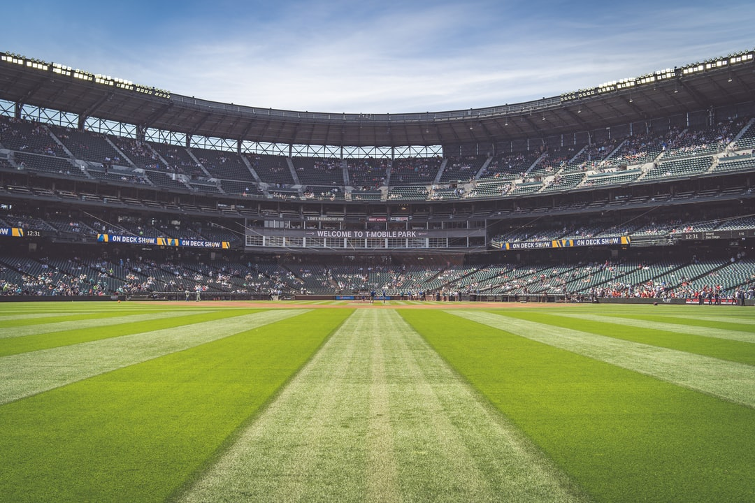standing in the outfield at T-Mobile Park in Seattle, WA - Home of the Seattle Mariners