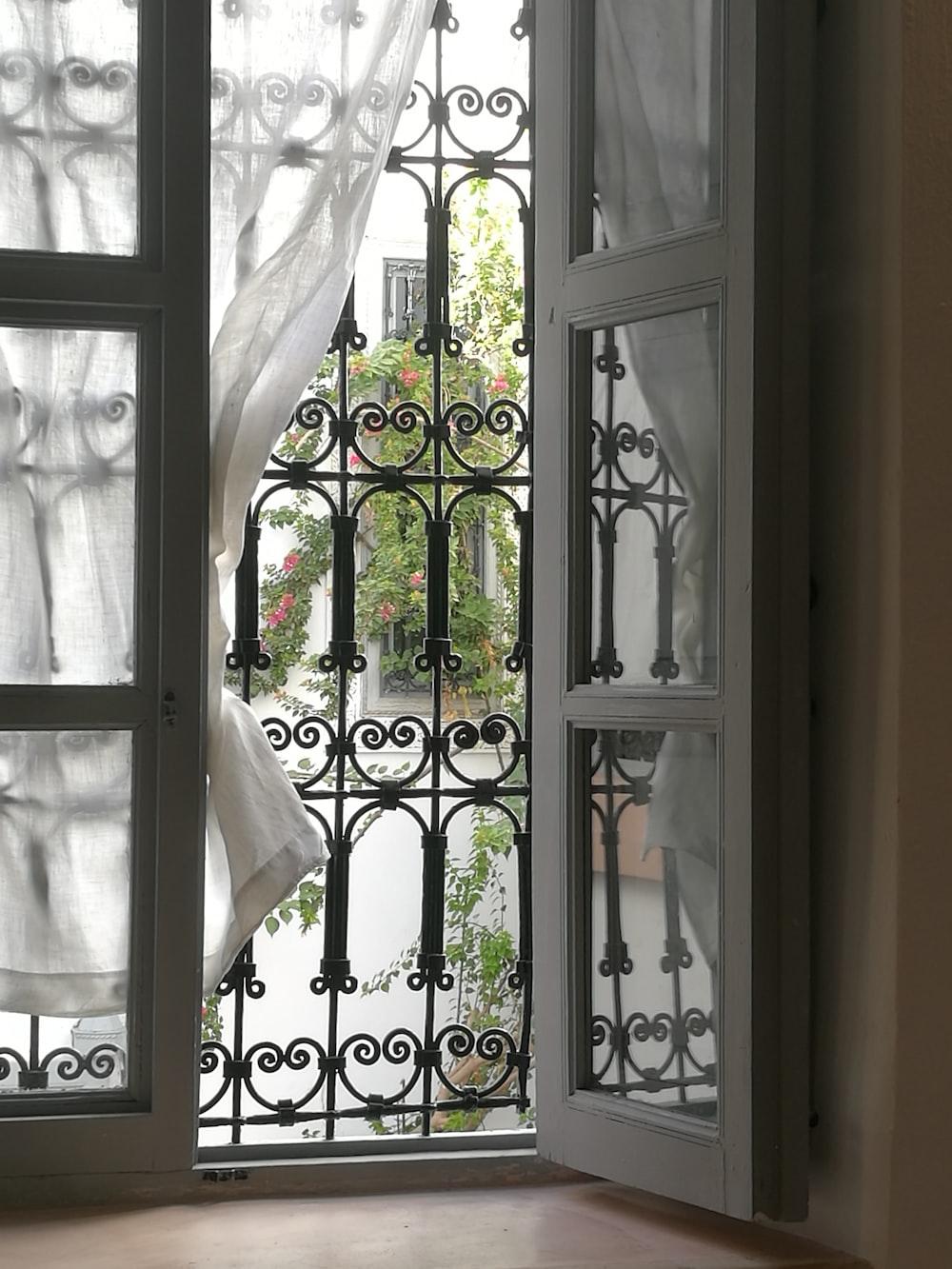 white wooden framed full-lite door