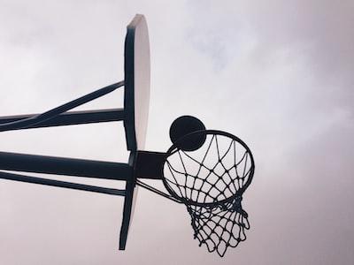 black and gray portable basketball hoop hoop zoom background