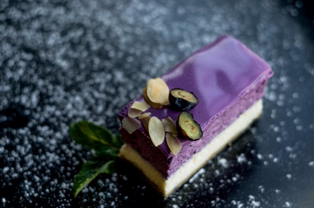 slice of blueberry cheesecake