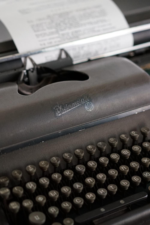 black typewriter