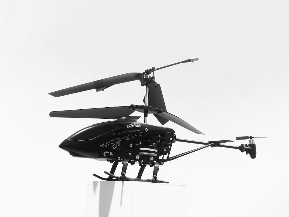 black helicopter drone
