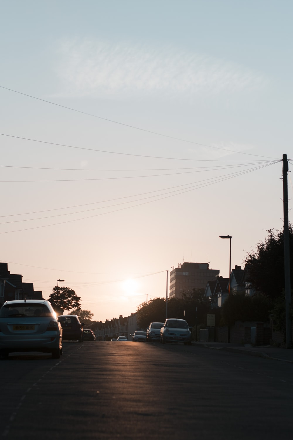 silhouette photo of streets