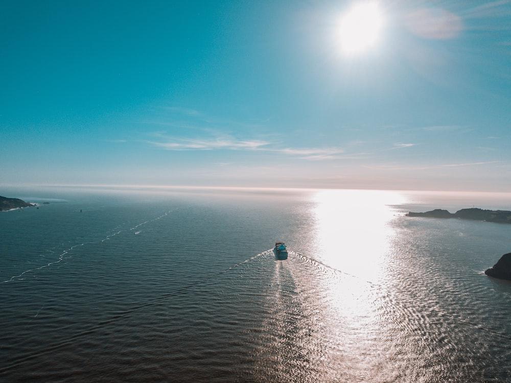 landscape photo of a ship at sea