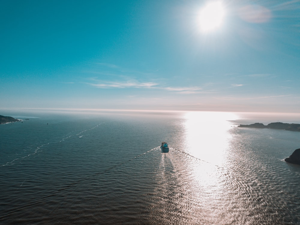 landscape photo of a ship at sea
