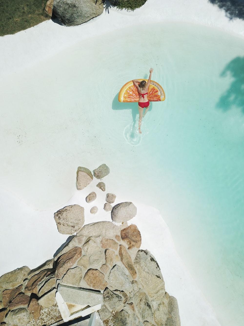 woman on swim ring
