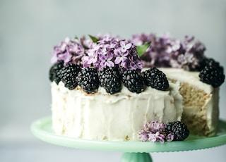 round white icing covered cake