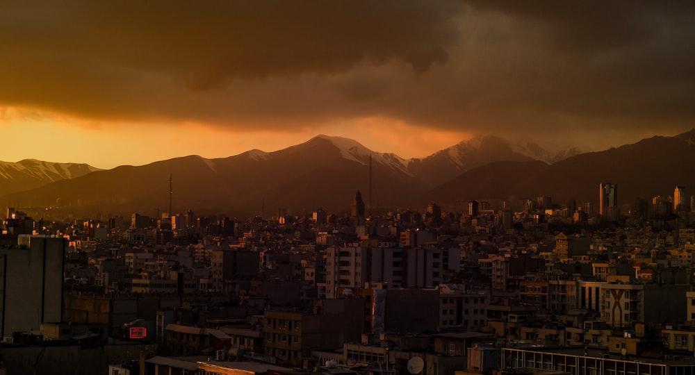 buildings during golden hour