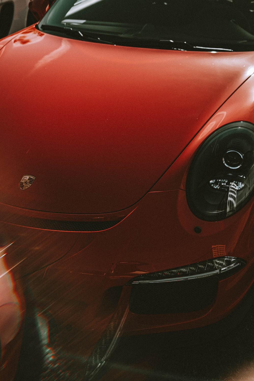 red Porsche vehicle