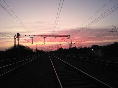 Bhiwandi train tracks during golden hour
