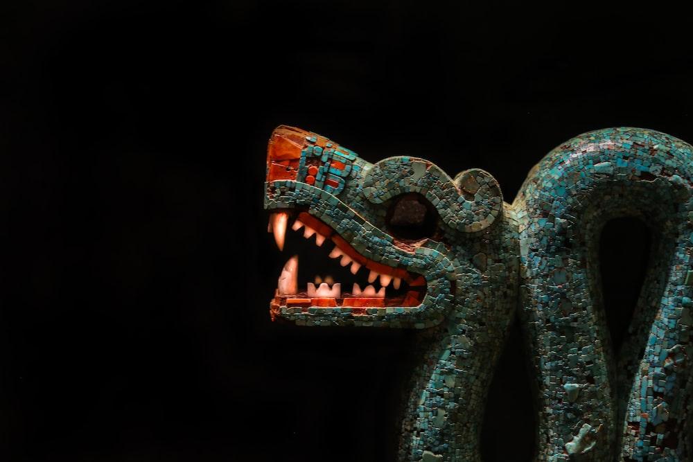 gray dragon figurine