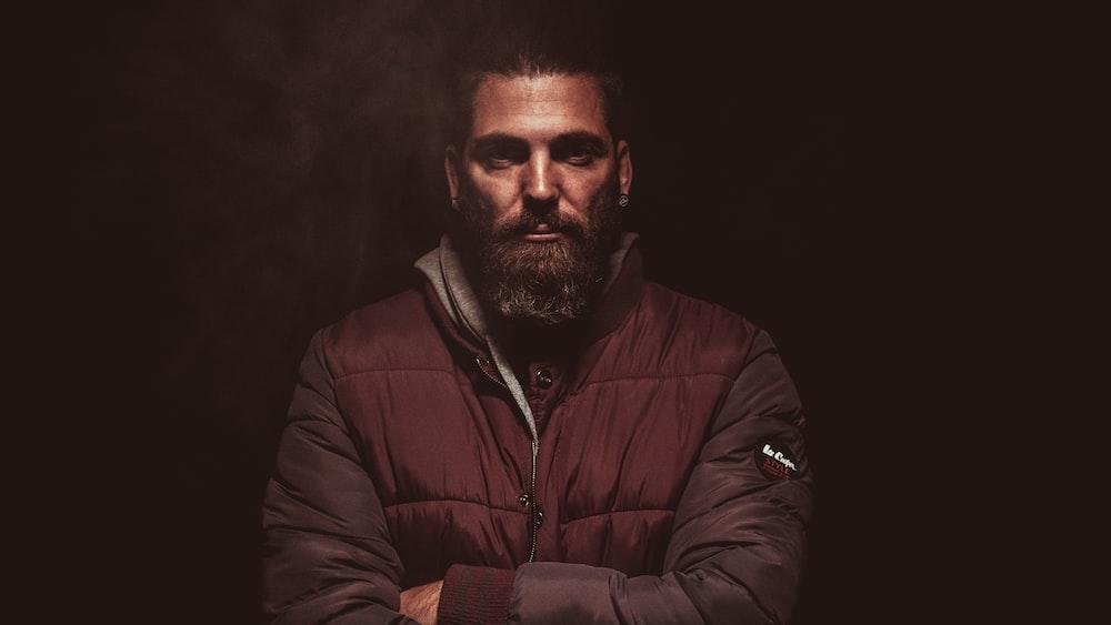 man wearing jacket
