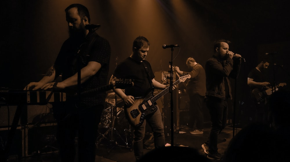 band group performing on stage