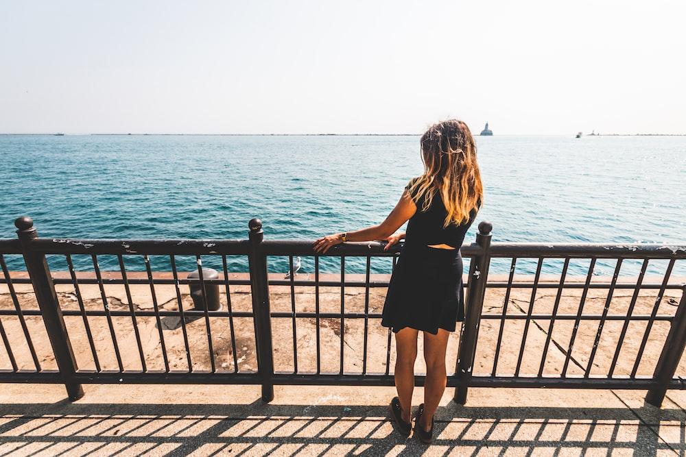 woman looking the ocean