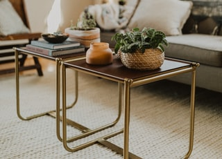 square square brown tables