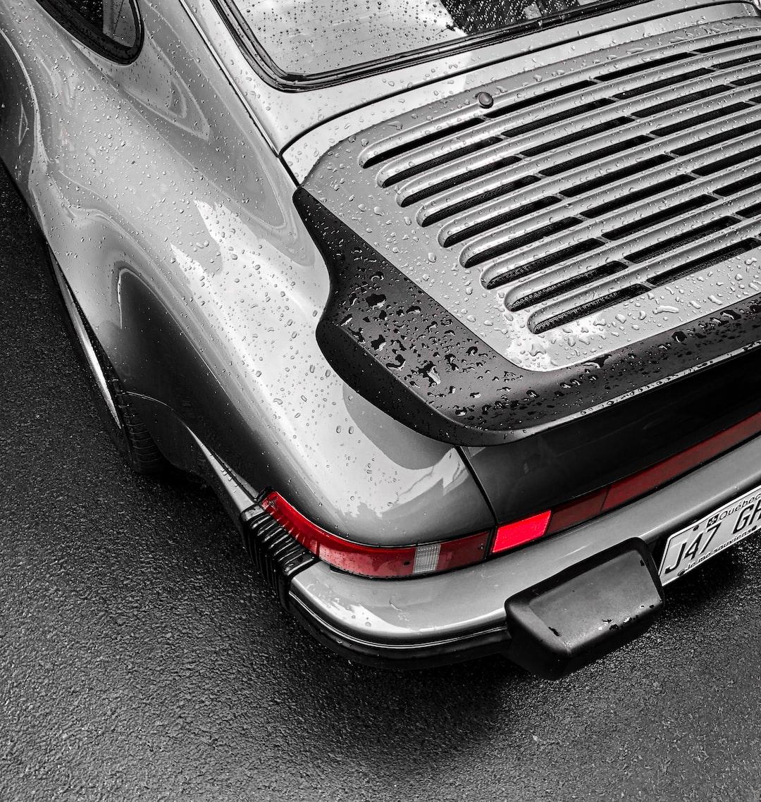 Wet old Porsche in Quebec City