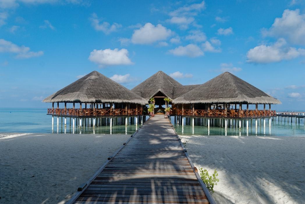 Beach resort in the Maldives