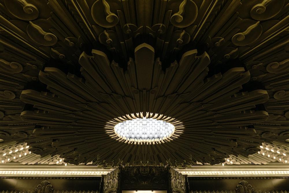 round brown false ceiling