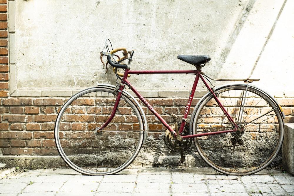 red commuter bike