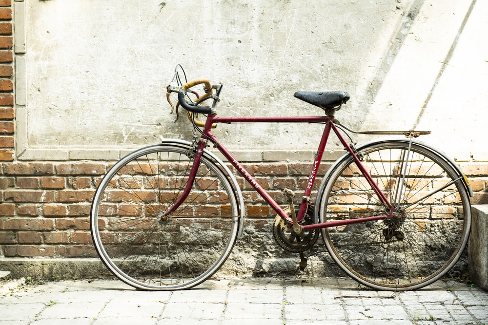 red commuter bike