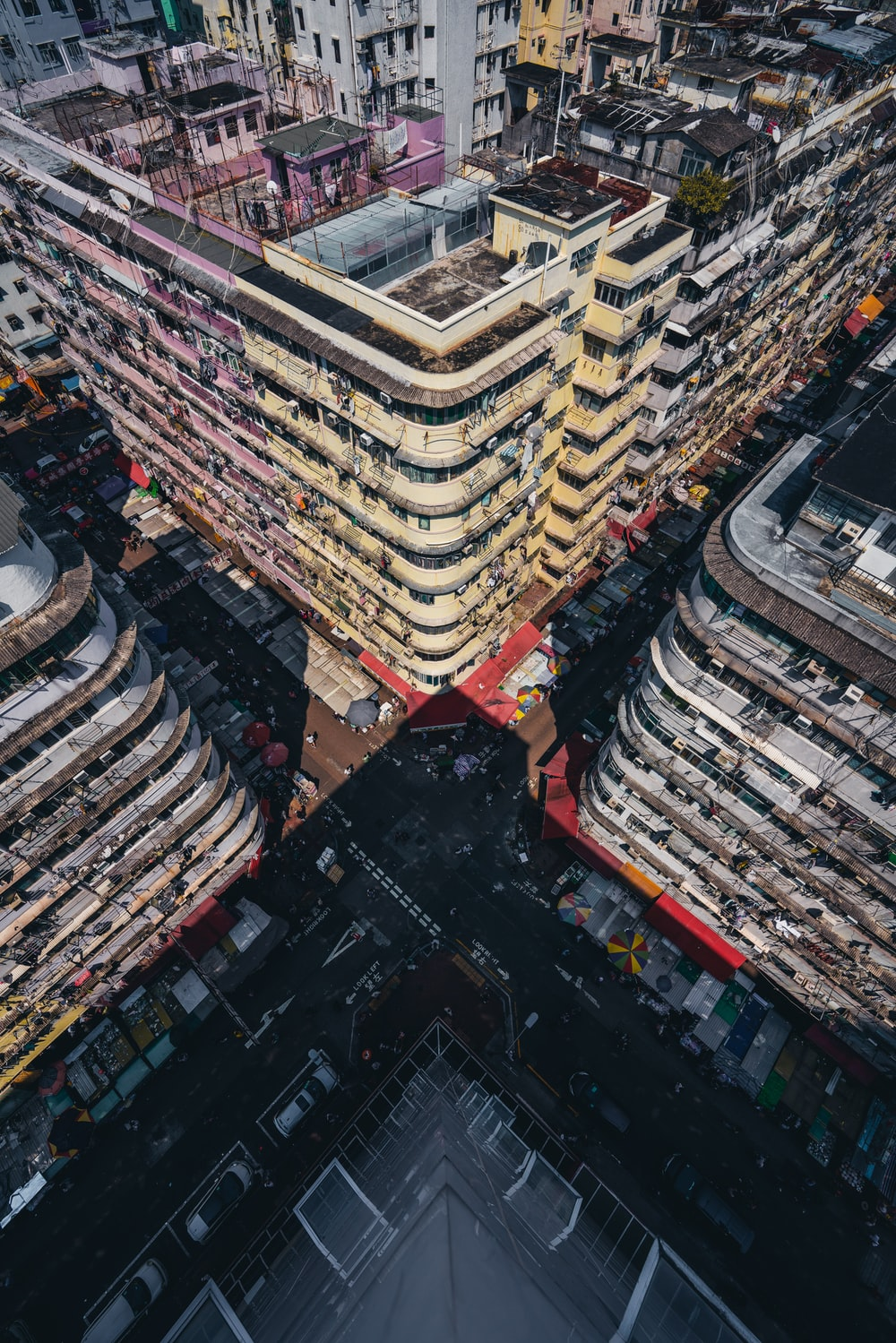 bird's eye view of high-rise building