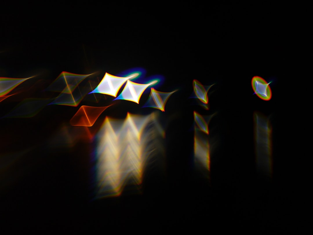City lights transformed by experimental techniques.