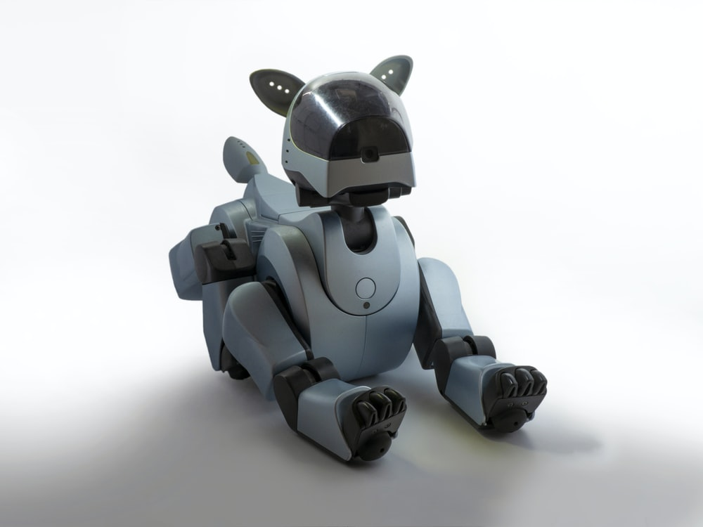 brown dog robot toy