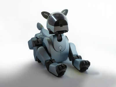 brown dog robot toy toy zoom background