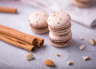 selective focus photography of macarons