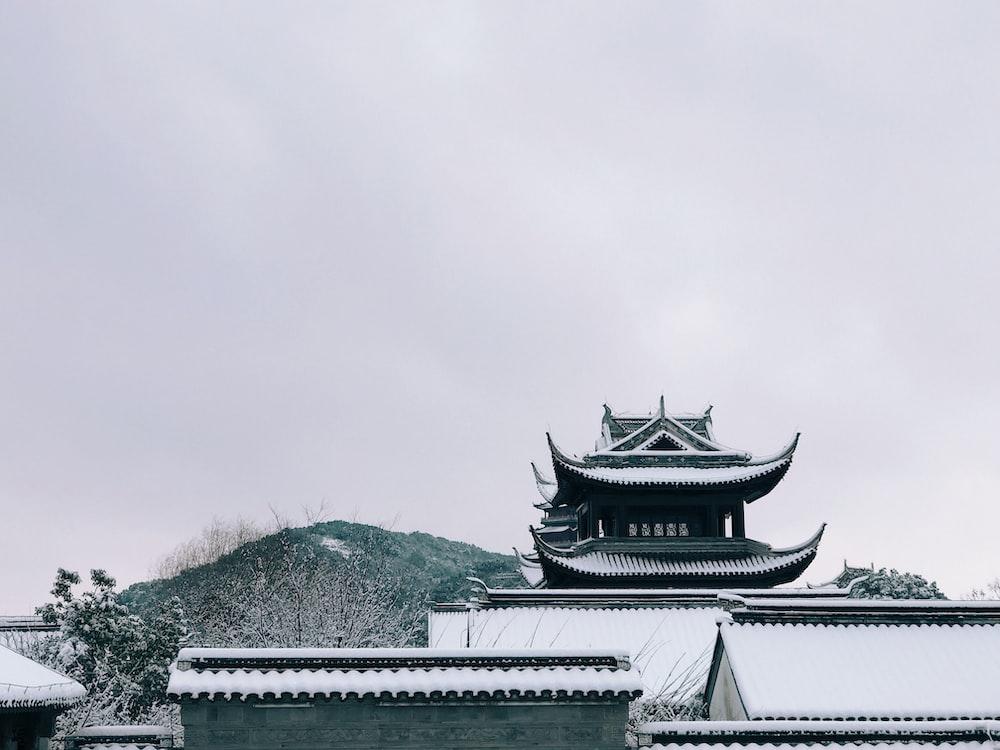 pagoda during winter season