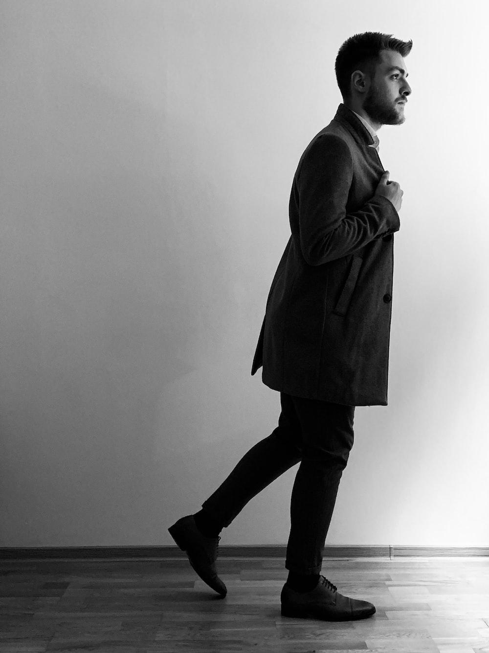 man wearing blazer