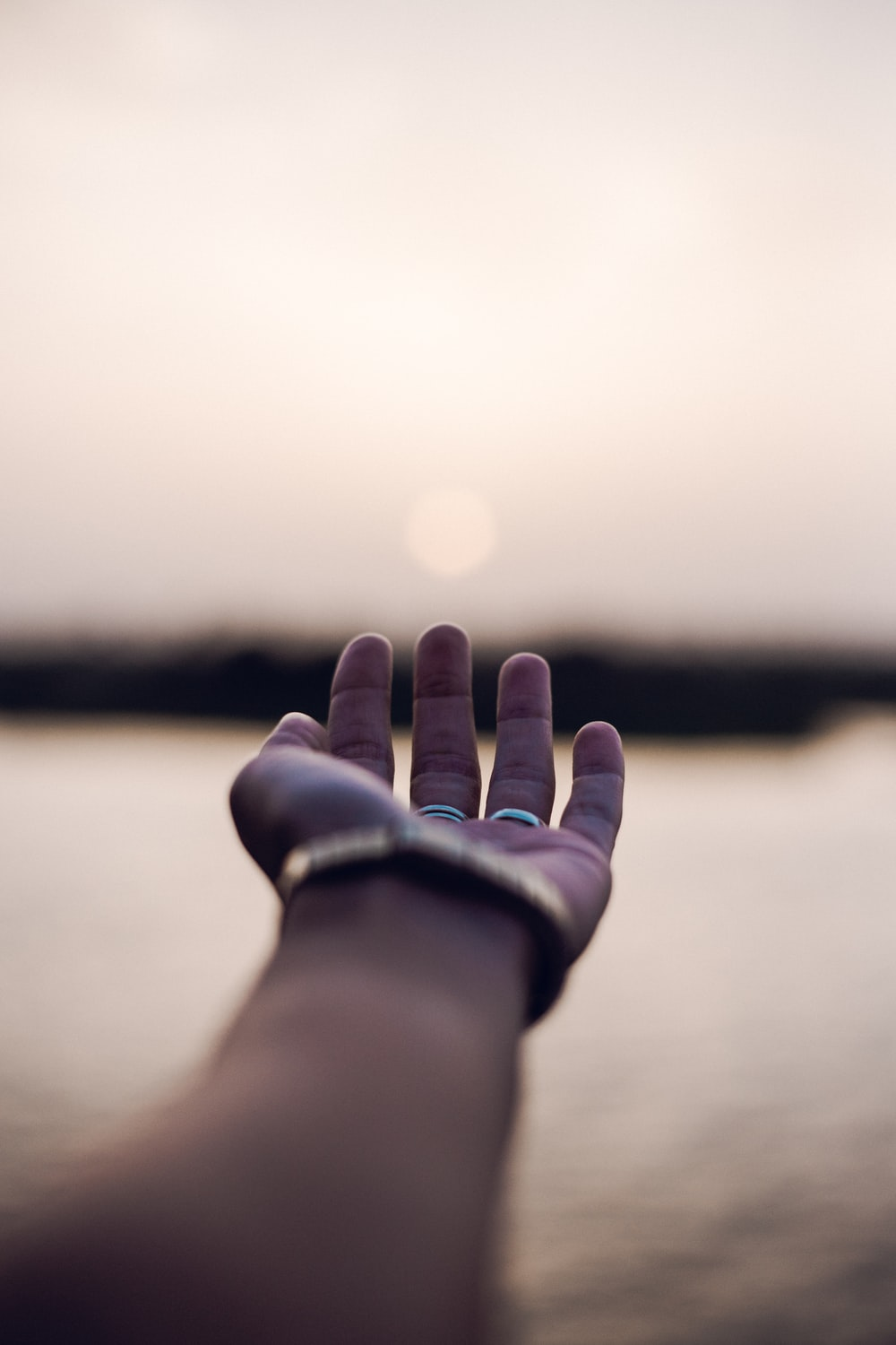 person open hands photo