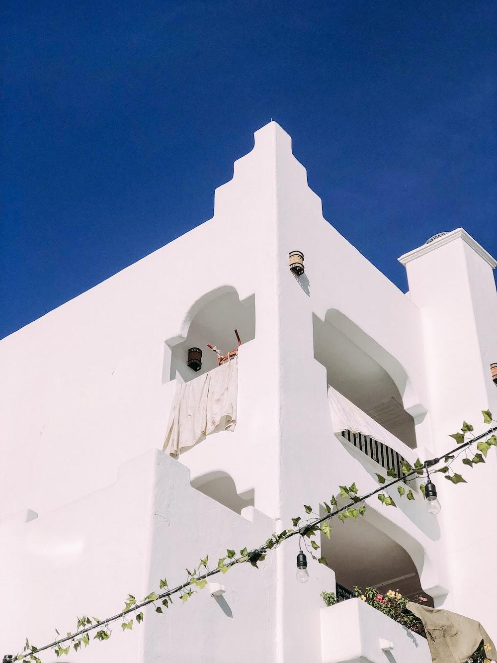 white 4-storey house