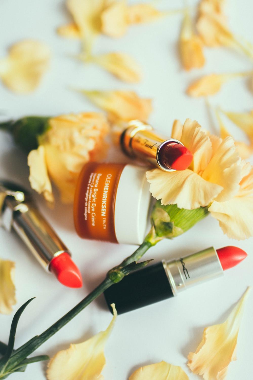 three red lipsticks