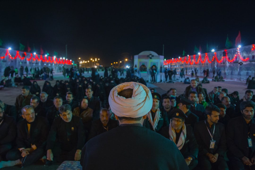 An akhoond  is a Persian title for an Islamic cleric, common in Iran, Azerbaijan and some parts of Afghanistan and Pakistan. The Standard Chinese word for imam used in particular by the Hui people, also derives from this term. (Arbaeen Pilgrimage- Mehran City, Iran)