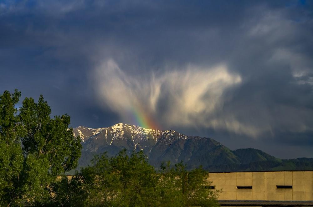 rainbow above mountains
