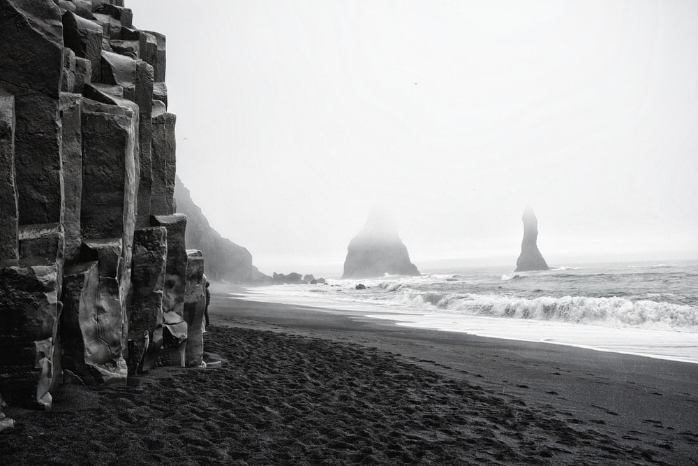 rock formations at the shore