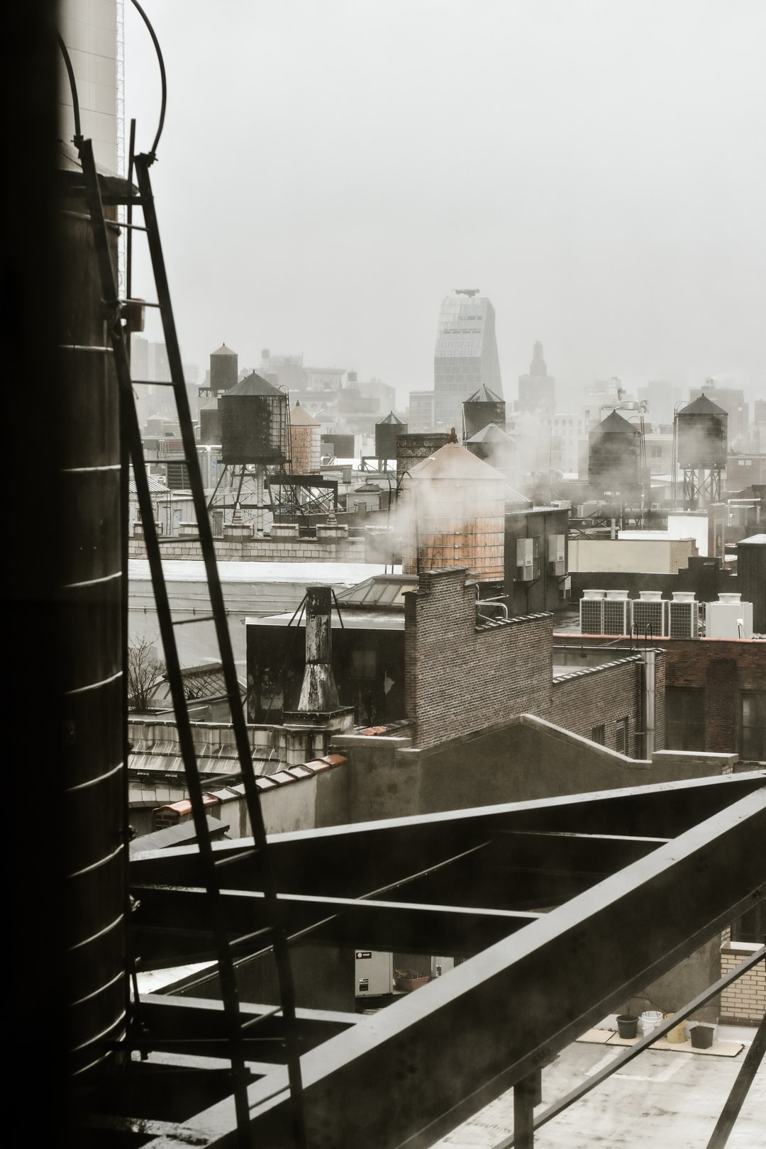 A drizzly Sunday afternoon overlooking Manhattan