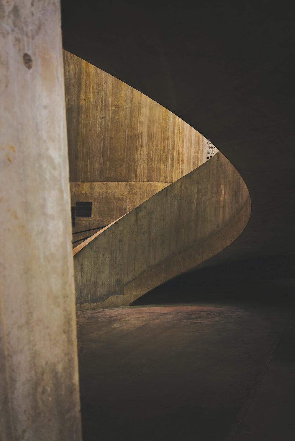 brown concrete ramp