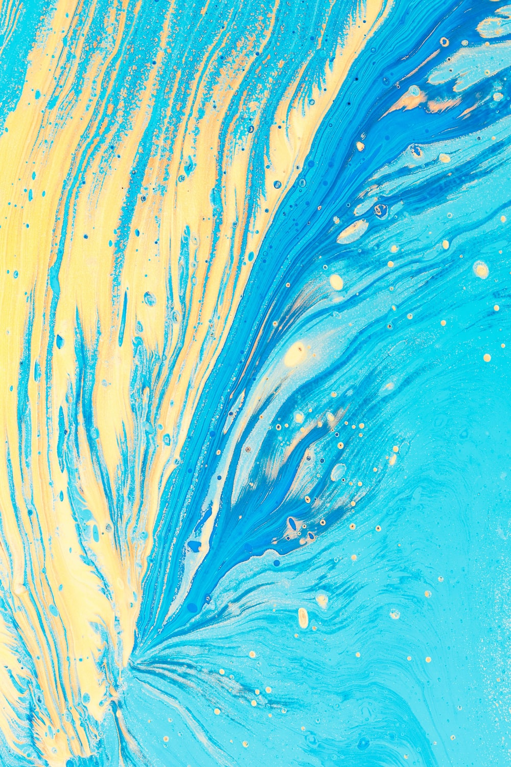 blue and yellow abstract artwork