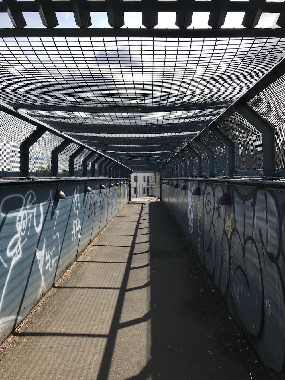 concrete bridge interior
