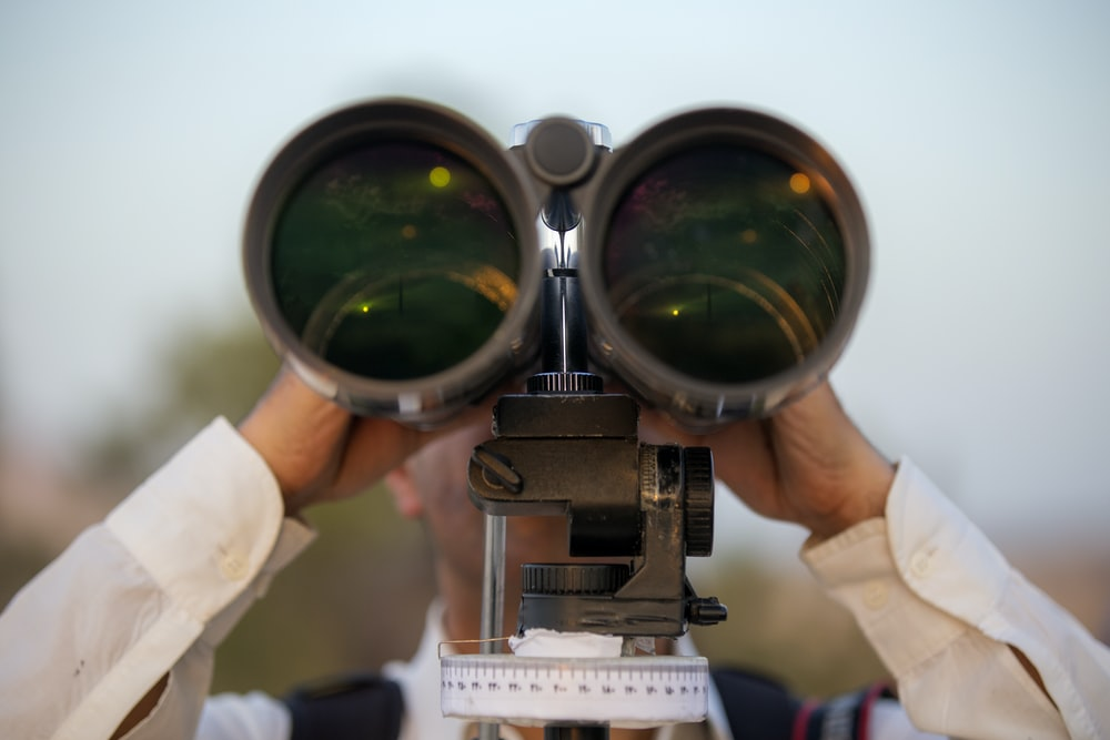 brown binoculars