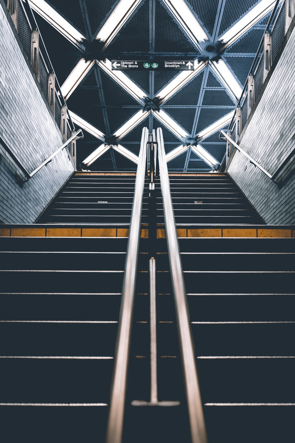 black and gray stairs