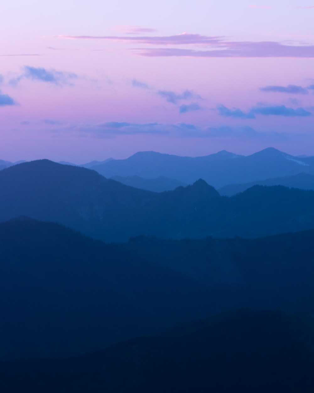 mountain ranges during golden hour