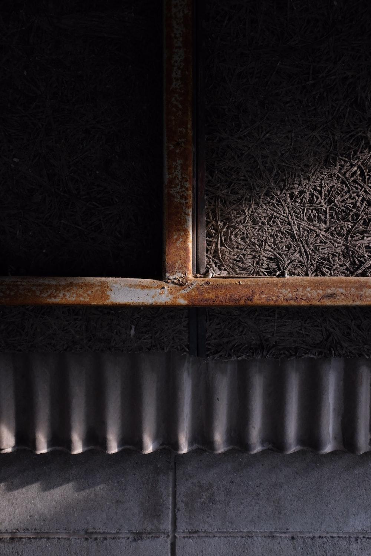 brown wooden framed