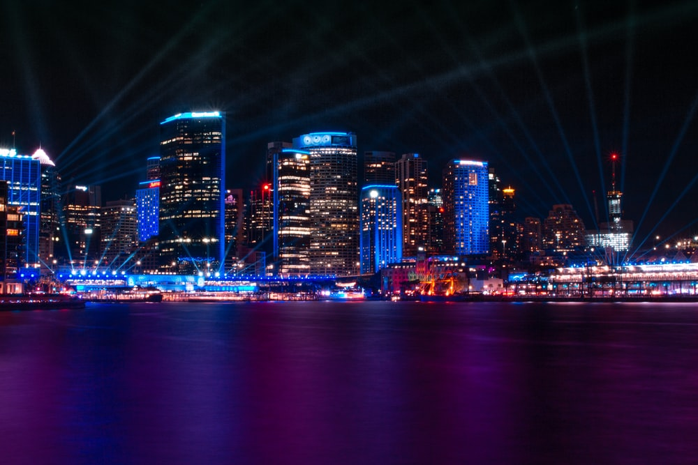panoramic photography of city during nighttime